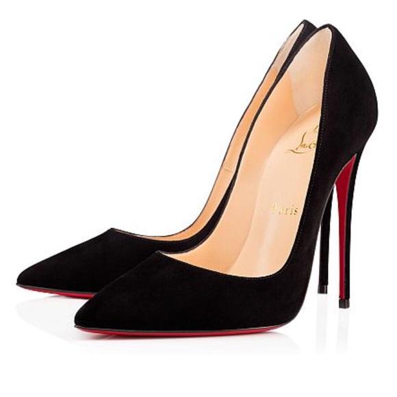 new style 801ea ce60e Louboutin Black Suede So Kate 100MM Custom NWT